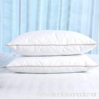puredown Natural Goose Down Feather Pillows for Sleeping with 100% Egyptian Cotton Pillow Downproof Cover White Set of 2 Standard Size - B07CMT1HDX