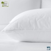 Sahara Nights Pillow: Best Pillow for Back and Stomach Sleepers - Hotel & Resort Quality Pillows - Gel Fiber Fill with 100% Premium Cotton - Hypoallergenic Pillow (Queen Size Pillow) - B003VSUV1G