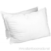 Superior White Down Alternative Pillow 2-Pack Premium Hypoallergenic Microfiber Fill Medium Density for Back Stomach and Side Sleepers - Standard Size Solid White - B005TOVUII