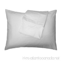 2-Piece 100 Percent Super Soft Cotton Pillowcases Zipper Closure - Standard Size 20 X 26 - B075Q468TD