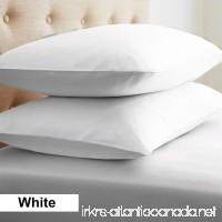 2-Piece- Euroshams ~ Solid Pattern 100% Pima Cotton 500 Thread- Count European Super Soft 2 PC Pillow Cases ( 26 x 26 Inch (66cm x 66cm )   White) - B0176EBC4U