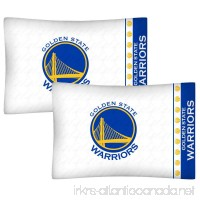 2pc NBA Golden State Warriors Pillowcase Set Basketball Team Logo Bedding Pillow Covers - B011J9OD3K