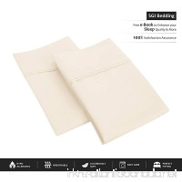 600 Thread Count 100% Egyptian Cotton Standard/Queen Pillowcase Size 20X30 Ivory Solid # Exotic Bedding Collection (Pack of 2) - B01HJ6IIT2