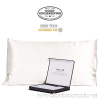 Fishers Finery 30mm 100% Pure Mulberry Silk Pillowcase Good Housekeeping Quality Tested (White  Q) - B01LYQUJWD