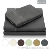 MALOUF 600 Thread Count Pillowcase Set - Genuine Egyptian Cotton - Queen - Slate - Set of 2 - B004N4LBCA
