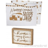 PBK Primitives by Kathy Glamper bundle of 2 Camper Pillowcases and Box Sign Home Away From Home - B07CW47G2J