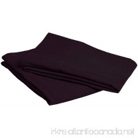 Pinzon Signature 190-Gram Cotton Heavyweight Velvet Flannel Pillowcases - Standard Aubergine - B00BED4Y3G