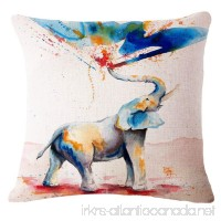 "SLS Cotton Linen Decorative Throw Pillow Case Cushion Cover Happy Day 18""X18 (1) - B073RDGBCS"