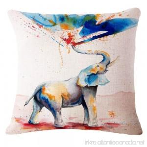 SLS Cotton Linen Decorative Throw Pillow Case Cushion Cover Happy Day 18X18 (1) - B073RDGBCS