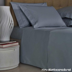 Thread Spread Pillow Cover Set (2pc) 100% Egyptian Cotton 1000 Thread Count Ultra Soft Pillow Case Set Durable and Silky Soft (Standard Pillowcase) - GREY - B01N4J22OL