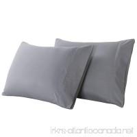 Vaulia Lightweight Microfiber Pillowcases Set of 2 (Standard-size Grey) - B075Q54BHC