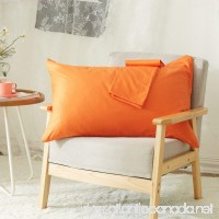 YAROO Zippered Pillow Cases  Body pillowcase  Body Pillow Cover 20x54 100% Cotton Solid Orange(1-Pack) - B071XG77NM