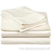100% Egyptian Cotton Classic 1-Piece Flat Sheet/ Top Sheet King Size Ivory Solid . - B016RA234C