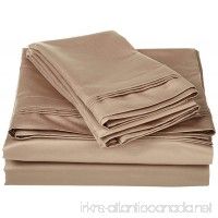 600 Thread Count 100% Egyptian Cotton Classic 1-Piece Flat Sheet/ Top Sheet California King Size Taupe Solid . - B016RA32JC