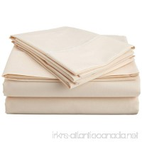 Brand New Solid Pattern 1000-TC Supreme Quality 1-Piece Flat Sheet/ Top Sheet California King Size-- Ivory . - B016RA0W40