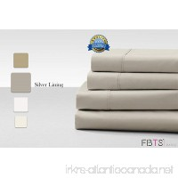 Cotton Rich Sheet Sets (California King Grey) 800 Thread Count like Hotel Quality Luxury Bedding Sets with 18 Deep Pockets 4 Piece Breathable Super Soft Bed Sheets by FBTS Basic - B0721PYGQK