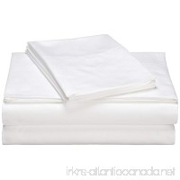 "Flat Sheets- 6 Pack- by MIMAATEX-Bright White-Ultra Soft Brushed Microfiber- 4"" Hem (KING) - B06WP9CWNG"