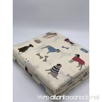 GT Heavyweight Flannel Flat Sheet Friendly Puppies - B07CH1221R