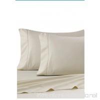 Ultra SOFT Sateen Pima Cotton 525 thread count (TWIN/IVORY) - B077HLQM4J