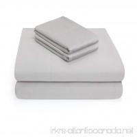 Vivendi Luxury Sateen 100% Cotton 4 Piece Sheet Set - Queen  Silver Grey - B06XDKSLTJ