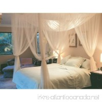 4 Corner Post Bed Canopy Mosquito Net Full Queen King Size Netting Bedding White - B00UHHL5CS