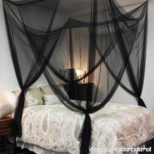 Adarl Indoor Elegant Twin Full Queen King Size Bedding 4 Corner Post Bed Canopy Bedroom Sleeping Mesh Mosquito Net Black C - B071XYQNWM