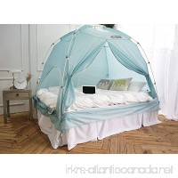 BESTEN Floorless Indoor Privacy Tent on Bed for Warm and Cozy Sleep inside Drafy Room (FULL/QUEEN Blue Mint) - B075K5G239