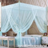 Bluelans 4 Corner Post Bed Canopy Mosquito Net Twin Full Queen King Size Netting Bedding White (Twin XL- 47(W)79(L) Blue) - B073F35XBM