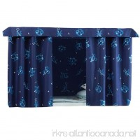 FANCY PUMPKIN Simple Dormitory Bunk Bed Curtains Dustproof Bedroom Curtains Shading Cloth C-06 - B07D8Y2MYV