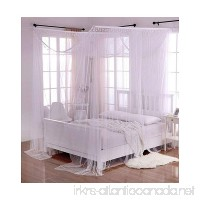 Heavenly 5007322 Crystal 4-Post Bed Canopy White One Size - B008Y2619U