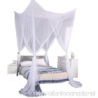 Mengersi 4 Corner Post Bed Canopy Mosquito Net Twin Full Queen King Size (White) - B07B4B4DYY