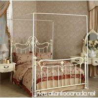 Mengersi Bedding Canopy Bed Frame Post White (White  King) - B078MRD559