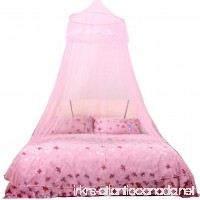 Mosquito Net Bed Canopy Elevin(TM) Insect Protection Dome Lace Mosquito Nets Indoor Outdoor Play Tent Bed Canopy (Pink) - B01K7MZX1Q