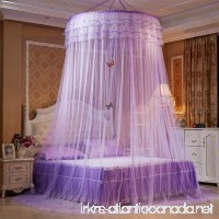 Mosquito Netting Mingshop Princess Canopy Dome Round Summer Net Bedroom Bed (Purple) - B073F9KG3Q