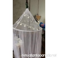 OctoRose DIY 3.75 yards Star Lace enclosed Cream Hoop Bed Canopy Mosquito Net Fit Crib  Twin  Full  Queen  King - B004RUHUQQ