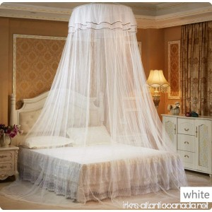 Pure and Plain Foldable Bed Canopy Mosquito Net Free Size for Crib/Twin/Full/Queen/King Round Top Diameter 25 inch by HugeHug - B06XK2T64J