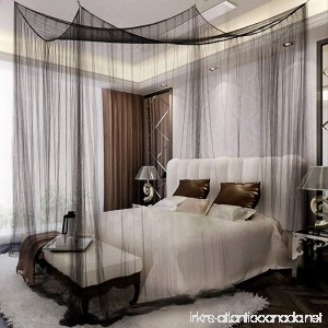 Yimii 4 Corner Post Mosquito Net Princess Bed Canopy Mosquito Netting Bed Curtains for Full Queen King Size Bed.(Black) - B07C18V8ZX
