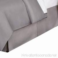Belles & Whistles 400 Tc Bed Skirt California King Silver - B07DV4633F
