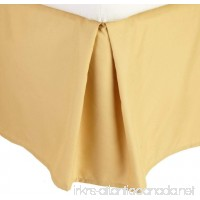 Clara Clark Grand 1200 Collection Solid Bed Skirt Dust Ruffle Full (Double) Size Camel Yellow Gold - B00J32XAU8