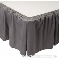 De Moocci Wrap Around Style Tailored Bed Skirt - Never Lift Your Mattress  Generous 16'' Drop  Pleated Styling  Hotel Quality  Iron Easy  Wrinkle Resistant - Grey  King - B075XZDPNP