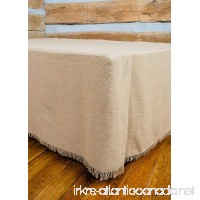 Deluxe Burlap Natural Tan King Bed Skirt - B017L7A93W