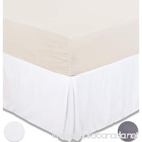 "Excellent Deals Bed Skirt (Queen  White) - Brushed Microfiber Quadruple Pleated Dust Ruffle - 14.5"" inch elegant Drop - Easy Clean  Iron Easy-Fade and Wrinkle Resistant-Comfortable & Durable. - B073YSRRHK"