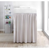 Extended Dorm Sized Bed Skirt Panel with Ties (1 Panel) - Jet Stream (For raised or lofted beds) - B07DWLC7SX