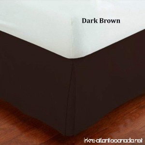 Fancy Collection Queen Size Easy Care Tailored Microfiber 14-inch Bed Skirt Solid Dark Brown - B00W4CYKMQ