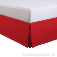 Fresh Ideas Kids Twin Bed Skirt - Lux Hotel Tailored Microfiber Bedskirt Classic 14 Drop Length – Red - B076HSJH16