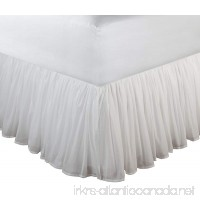 Greenland Home Fashions Cotton Voile 18-Inch White Bed Skirt  Queen - B007P9JGPY