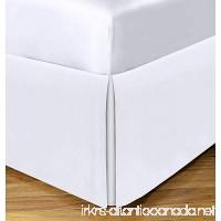 Queen Size Split Corner Bed Skirt 21'' Inch Drop - 100% Egyptian Cotton Luxurious & Hypoallergenic Easy to Wash Wrinkle  (White  Queen Size Bed Skirt with 21 inch drop) - B07D3YWKPQ