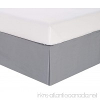 Queen Wrinkle Resistant Tailored Drop Pleated Microfiber Bed Skirt Gray - B077MTRBVB