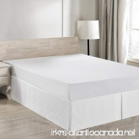 Simple&Opulence Easy Fit Breathable Premium Dust Ruffle With Classic 14 inch Drop Bed Skirt (Basic-white King) - B07C9DYLPX