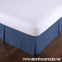 Southshore Fine Linens - VILANO Springs - 15 inch Drop Pleated Bed Skirt  Dark Blue  California King - B07562MFZP